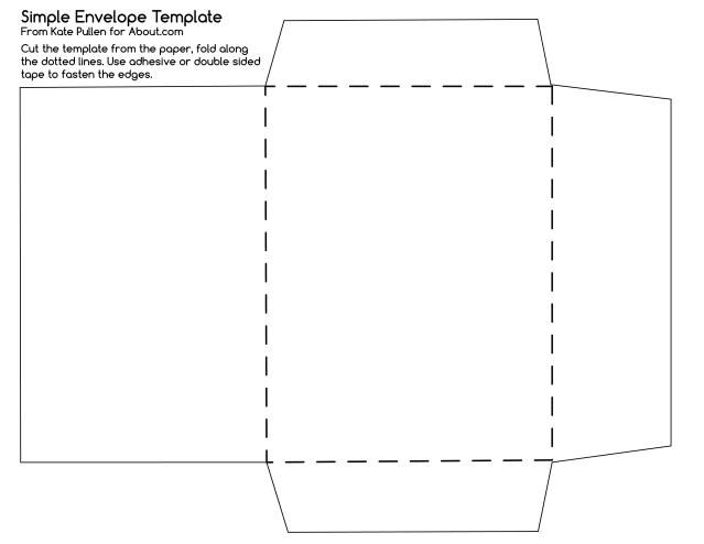 heres a simple envelope template which will help you make diy envelopes for your handmade cards and other times when a special envelope is required - Free Envelope Template