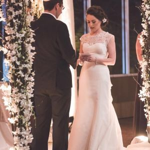 In a beautiful setting, this #bride outshines everything in the room. #weddingday #weddingdress #sayyestothedress #weddingdaystyle