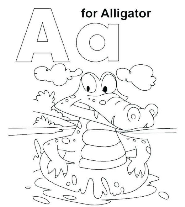 6 Alligator Coloring Pages Preschool Coloring Pages Letter A In 2020 Preschool Coloring Pages Letter A Coloring Pages Abc Coloring Pages