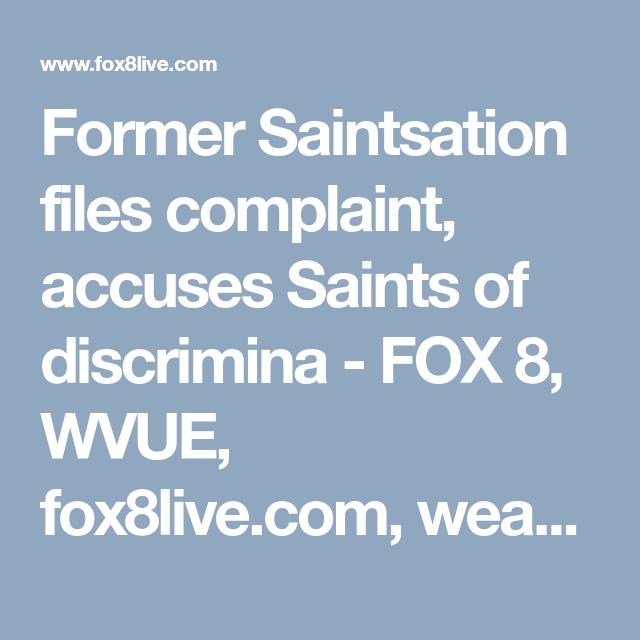 Former Saintsation files complaint, accuses Saints of