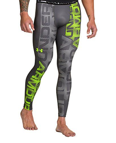Under Armour Men S Heatgear Sonic Branded Compression Leggings Extra Extra Large Graphite Under Armour Htt Mens Workout Clothes Mens Running Pants Mens Tights