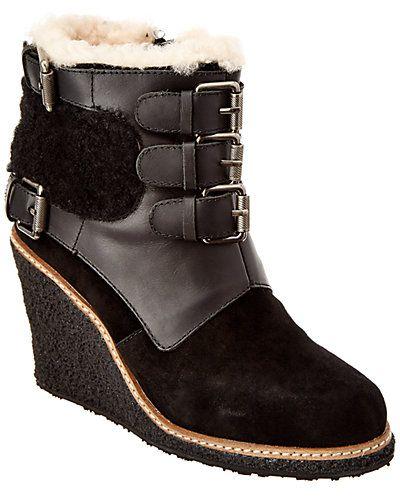 96600bb25e71 Rue La La — Australia Luxe Collective Women s Monk Suede Wedge Boot ...