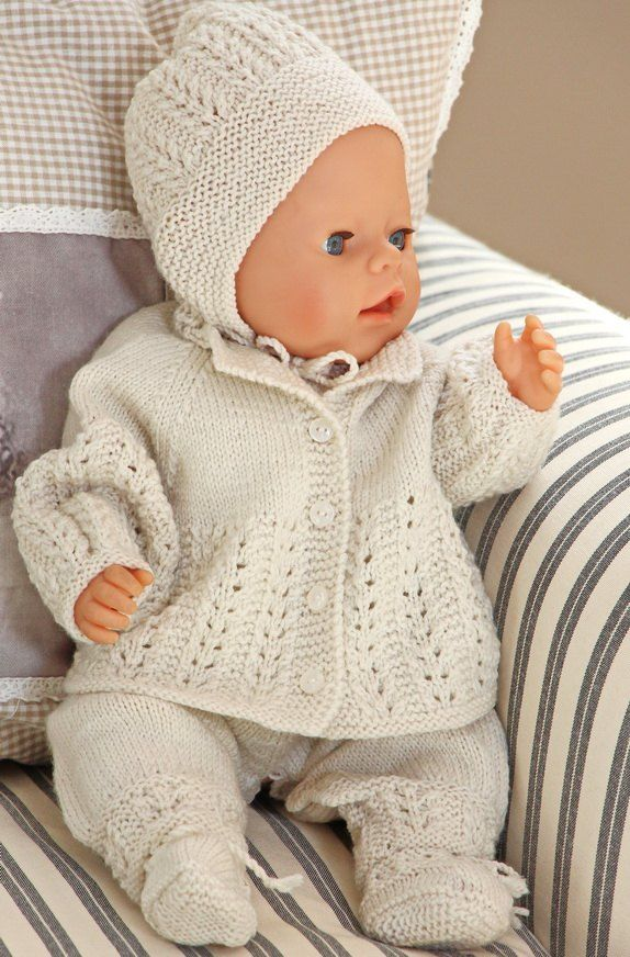 knitting patterns for baby dolls | Knitting | Pinterest | Bebe ...