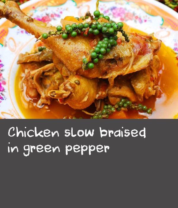 Chicken Slow Braised In Green Pepper