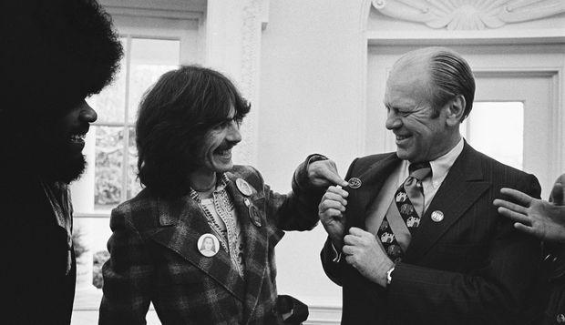 George Harrison And Keyboardist Billy Preston Meet