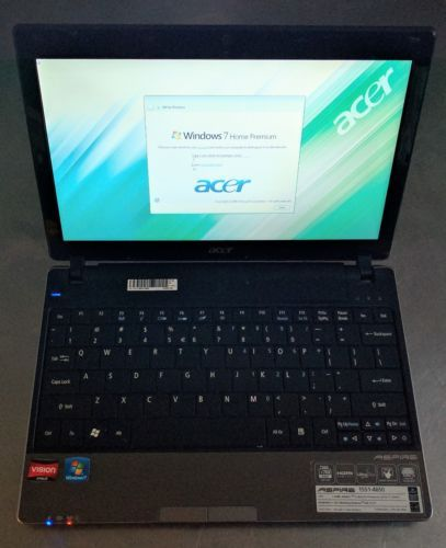Acer Aspire 1551-4650 Laptop Notebook Netbook Computer WIN 7 4GB AMD Athlon II