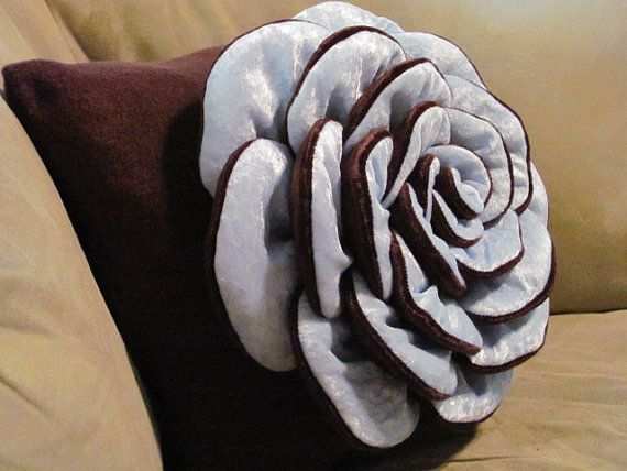 VICTORIA ROSE Flower Pillow Rose Pattern Felt Rose with 2   Etsy