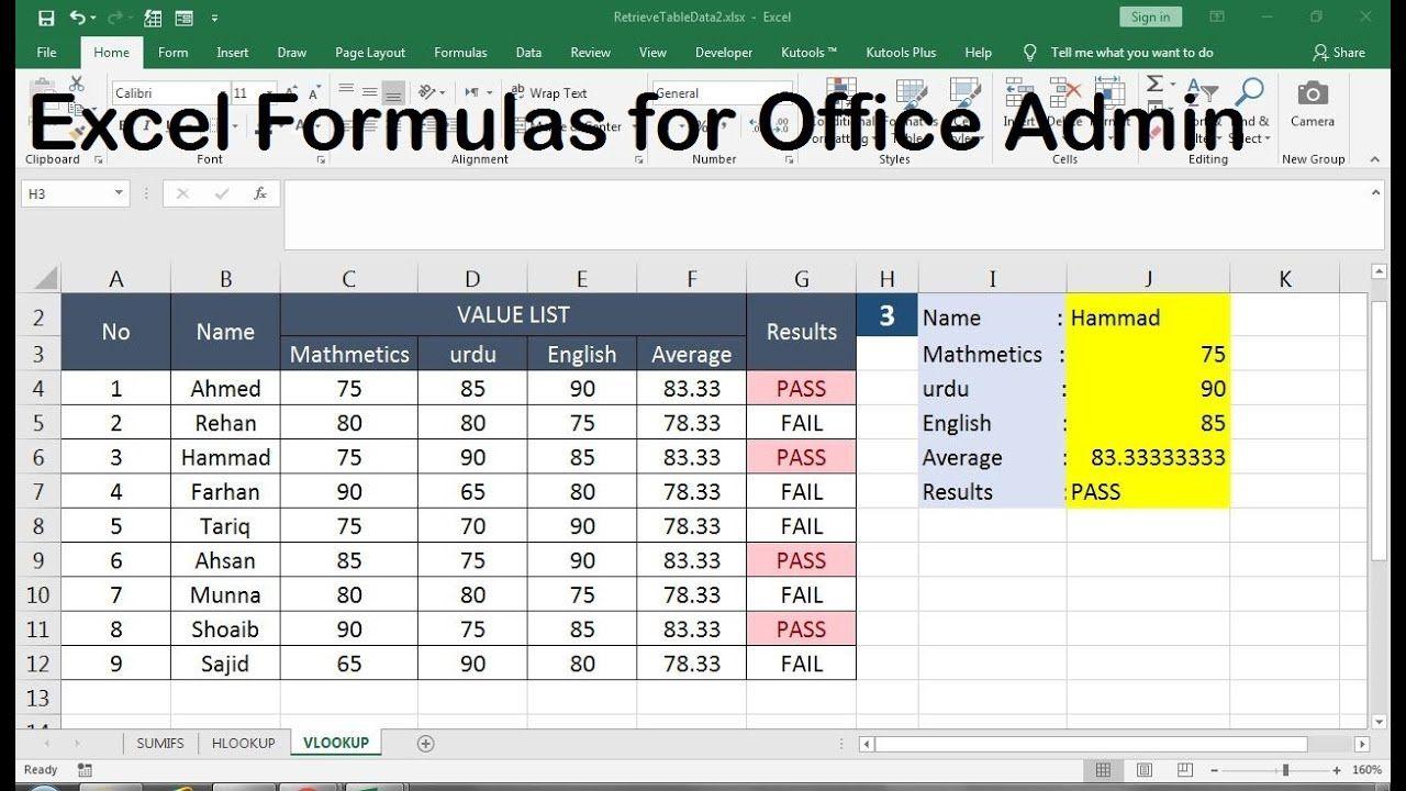 Advanced Excel Formulas For Office Excel Formula Excel Formula