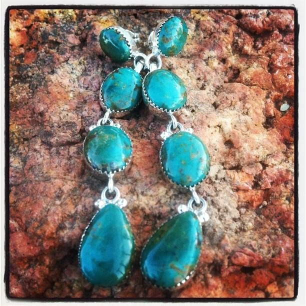 What would you pair with these gorgeous Southwest Turquoise Earrings? http://www.silvertribe.com