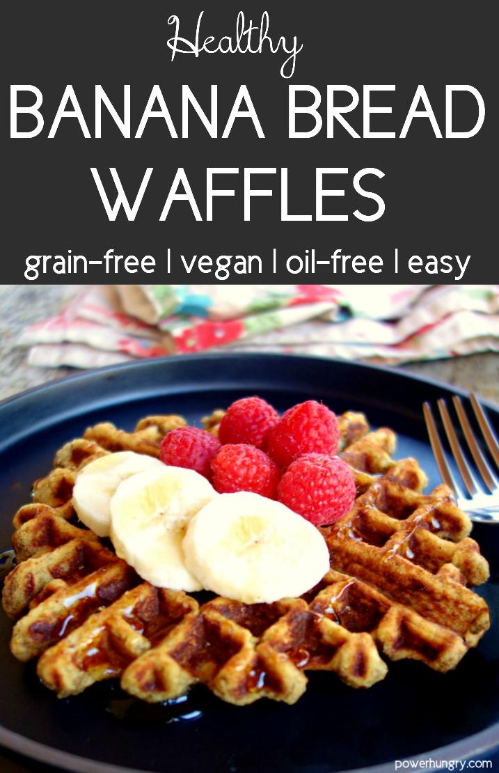 Banana Bread Waffles Grain Free Oil Free Vegan Recipe Waffles Waffle Iron Recipes Whole Wheat Waffles