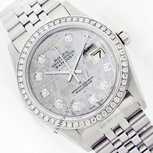 Meteorite Rolex Men's Steel Watch Datejust 16014 Diamond Dial/Bezel https://t.co/ljIYjj1GpM https://t.co/t6MMt2TjcC