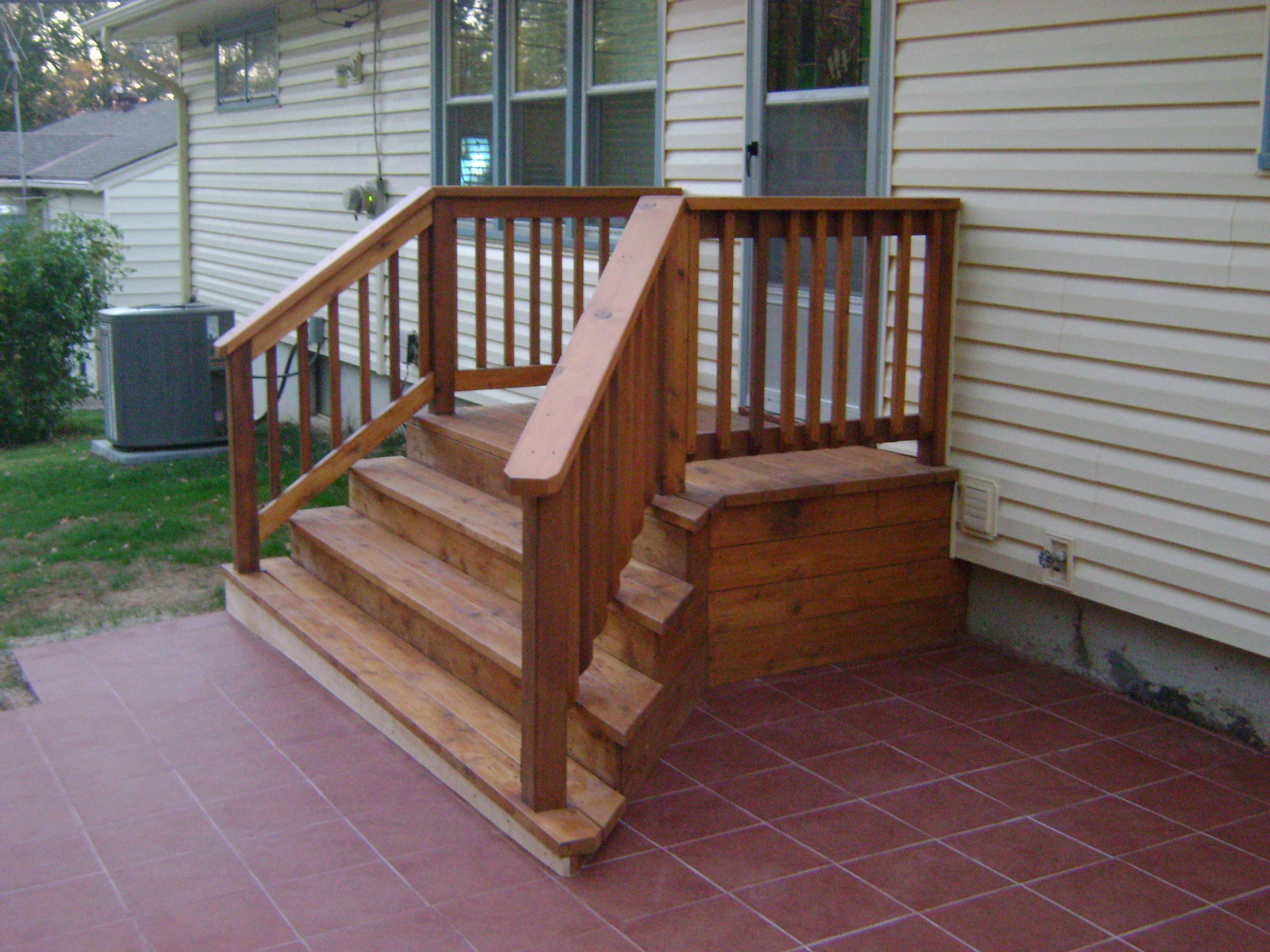Great While This Homeowner Wanted A Very Small Deck Off The Back, The New Outdoor  Tile
