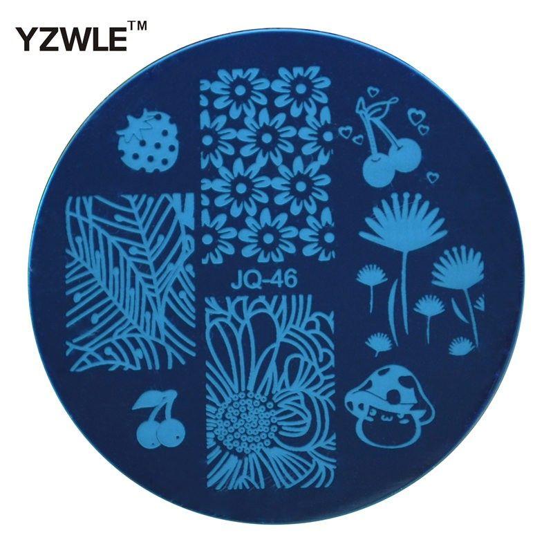 Yzwle 1 листовой штамповки ногтей изображения пластина 5.6 см из нержавеющей стали шаблона гель-лак маникюр трафа https://t.co/SlVNxzSBwE