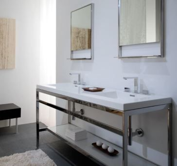 Wetstyle C60 C Collection 60 1 4 Stainless Steel Console Table With Images Double Vanity Bathroom Bathroom Console Steel Console Table