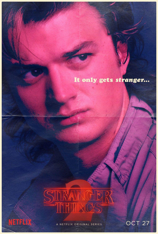 Strangerthings Season 2 Character Poster Of Steve Harrington Stranger Things Characters Stranger Things Steve Stranger Things