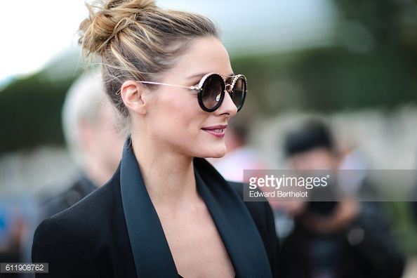 Olivia Palermo is seen outside the Balmain show during Paris Fashion Week Spring Summer 2017 at the Tuileries garden on October 1 2016 in Paris France