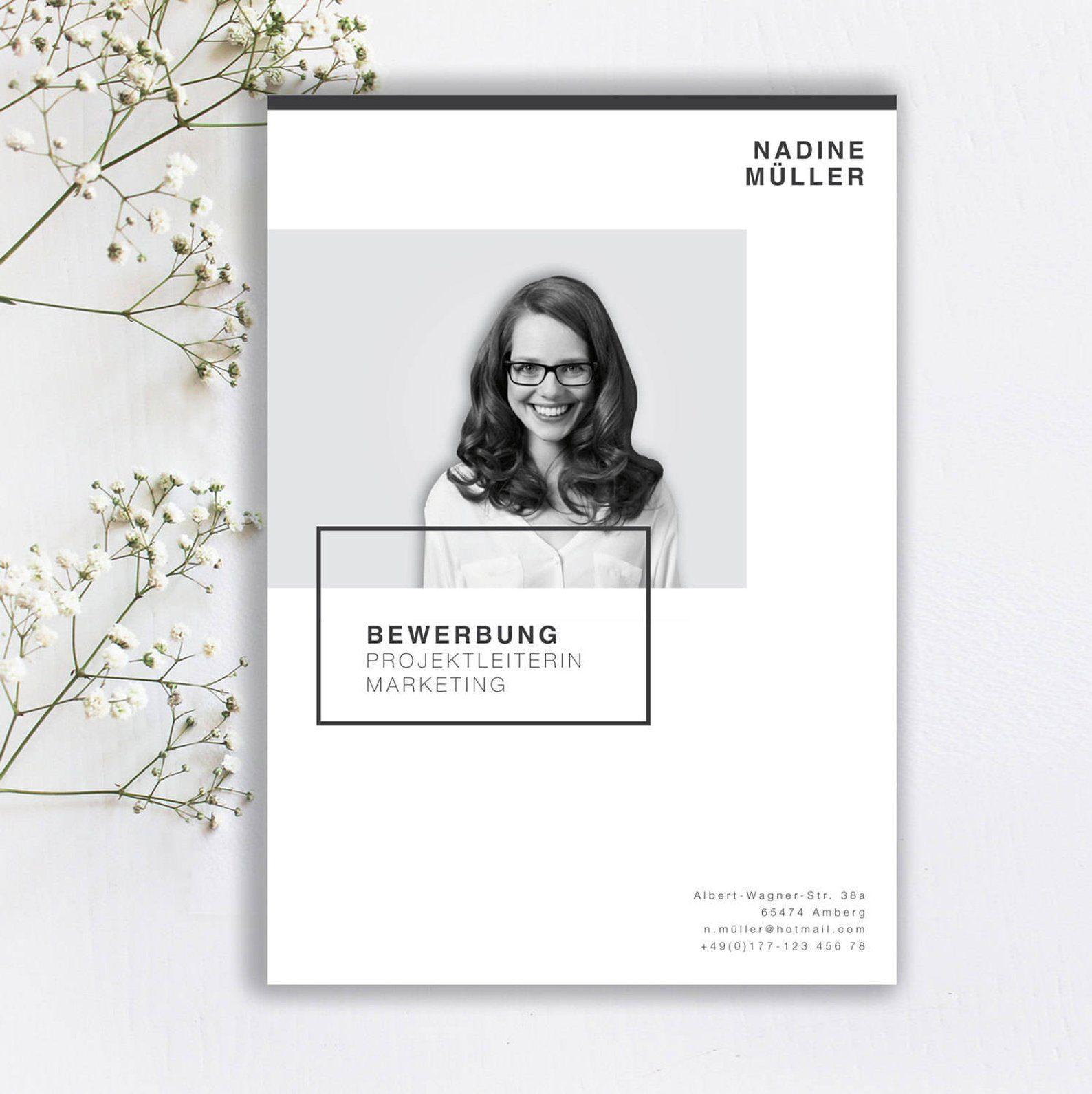 Bewerbungsvorlage Minimal Style In Der Farbe Cream Beige Etsy Cv Template Resume Design Template Creative Cv