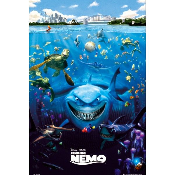 Disney art | Finding nemo movie posters, Nemo movie ...  Walt Disney Pictures Presents A Pixar Animation Studios Film Finding Nemo