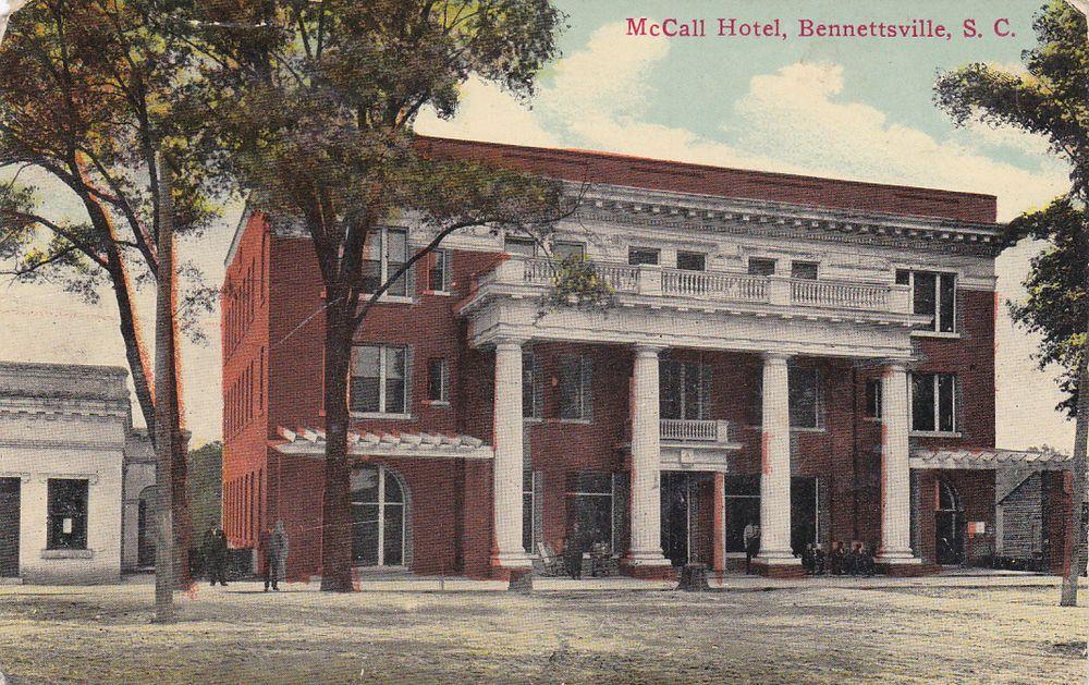 Mccall Hotel Bennettsville South Carolina Pu 1914