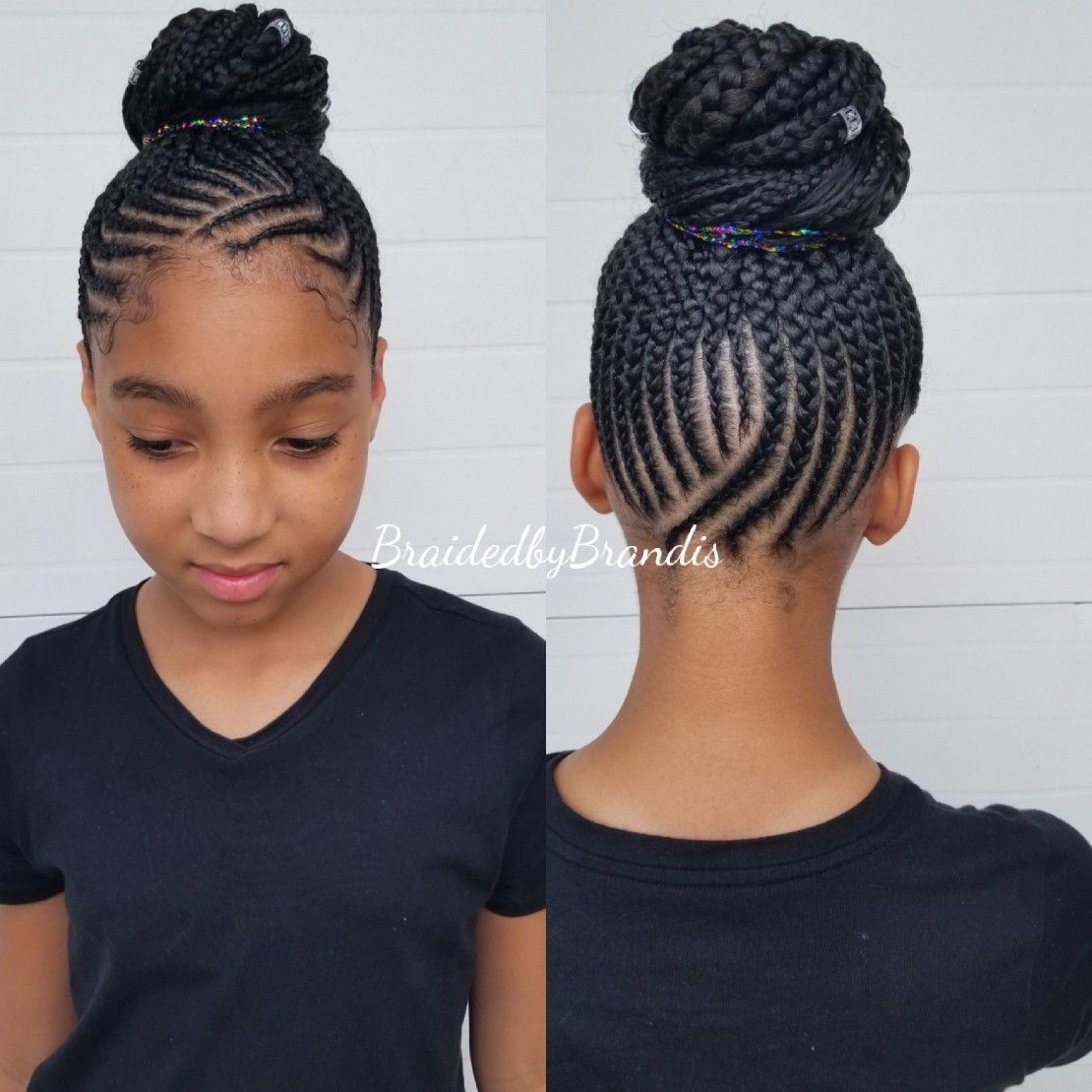 Kids Feed In Bun Kids Hairstyles Hair Styles Braided Hairstyles