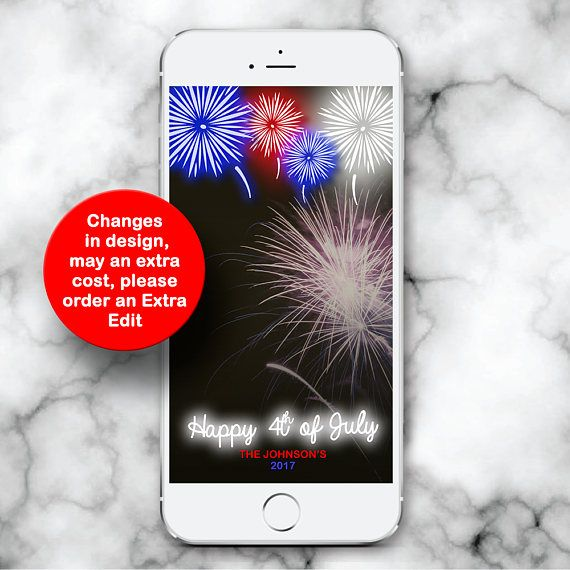 4th of July Snapchat Filter, Fourth of July Geofilter, July 4th