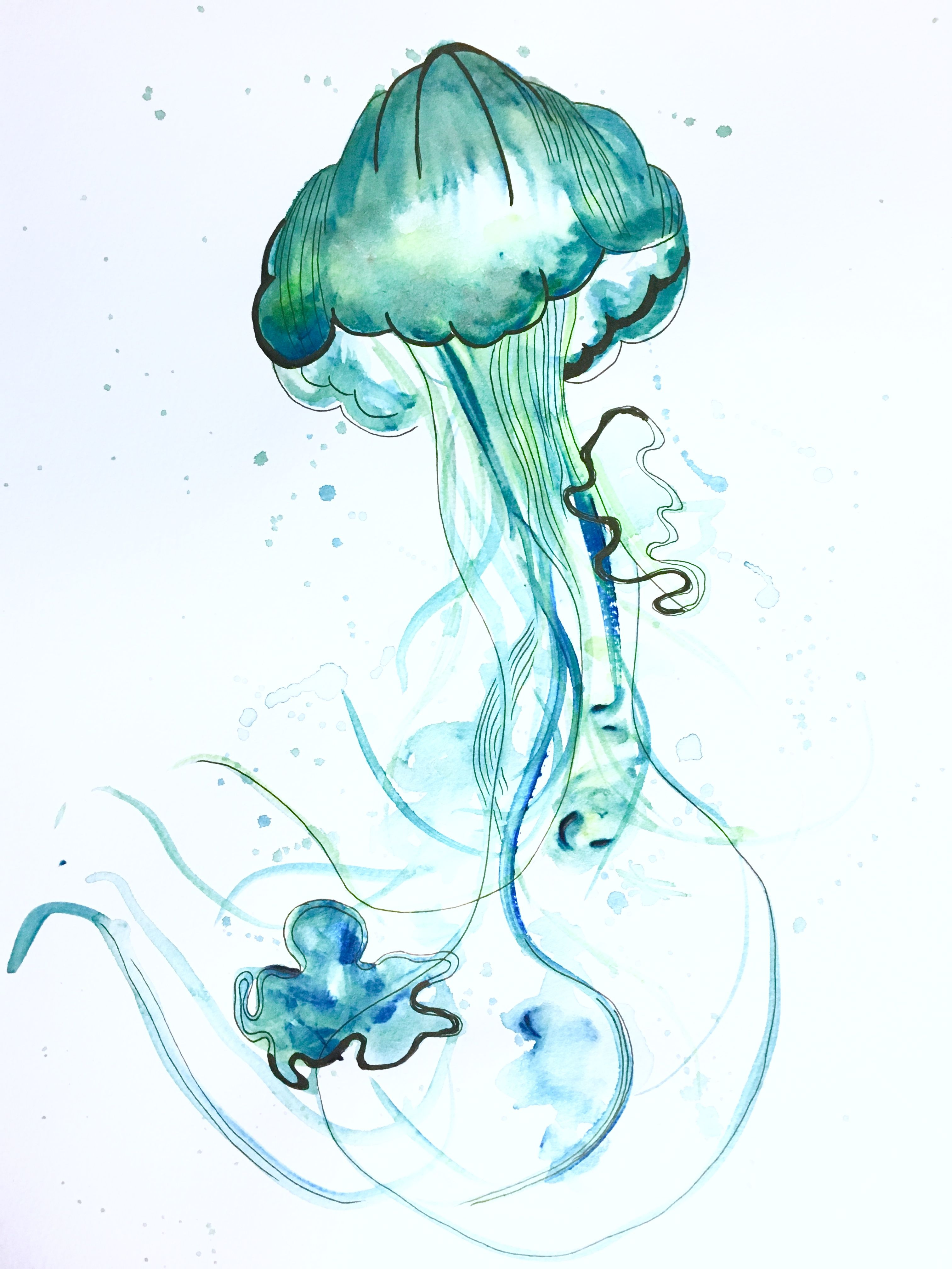 ddf3bfcc9 Watercolor Jellyfish abstract Watercolor Jellyfish, Jellyfish Painting, Jellyfish  Tattoo, Watercolor Whale, Abstract