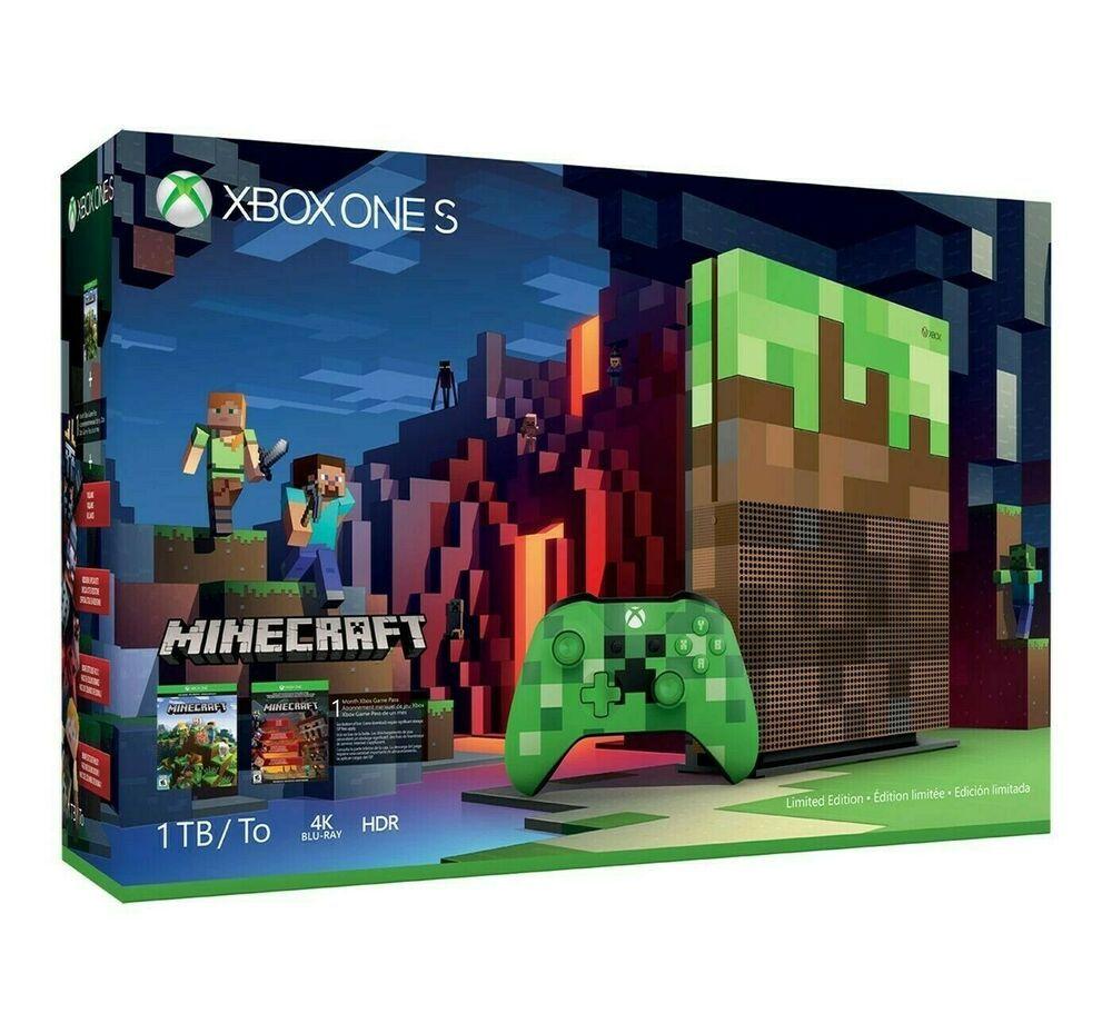 Microsoft Xbox One S Minecraft Limited Edition Bundle 10TB Green