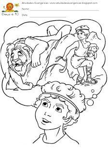 Atividades Evangelicas Davi E Golias Para Imprimir Colorir