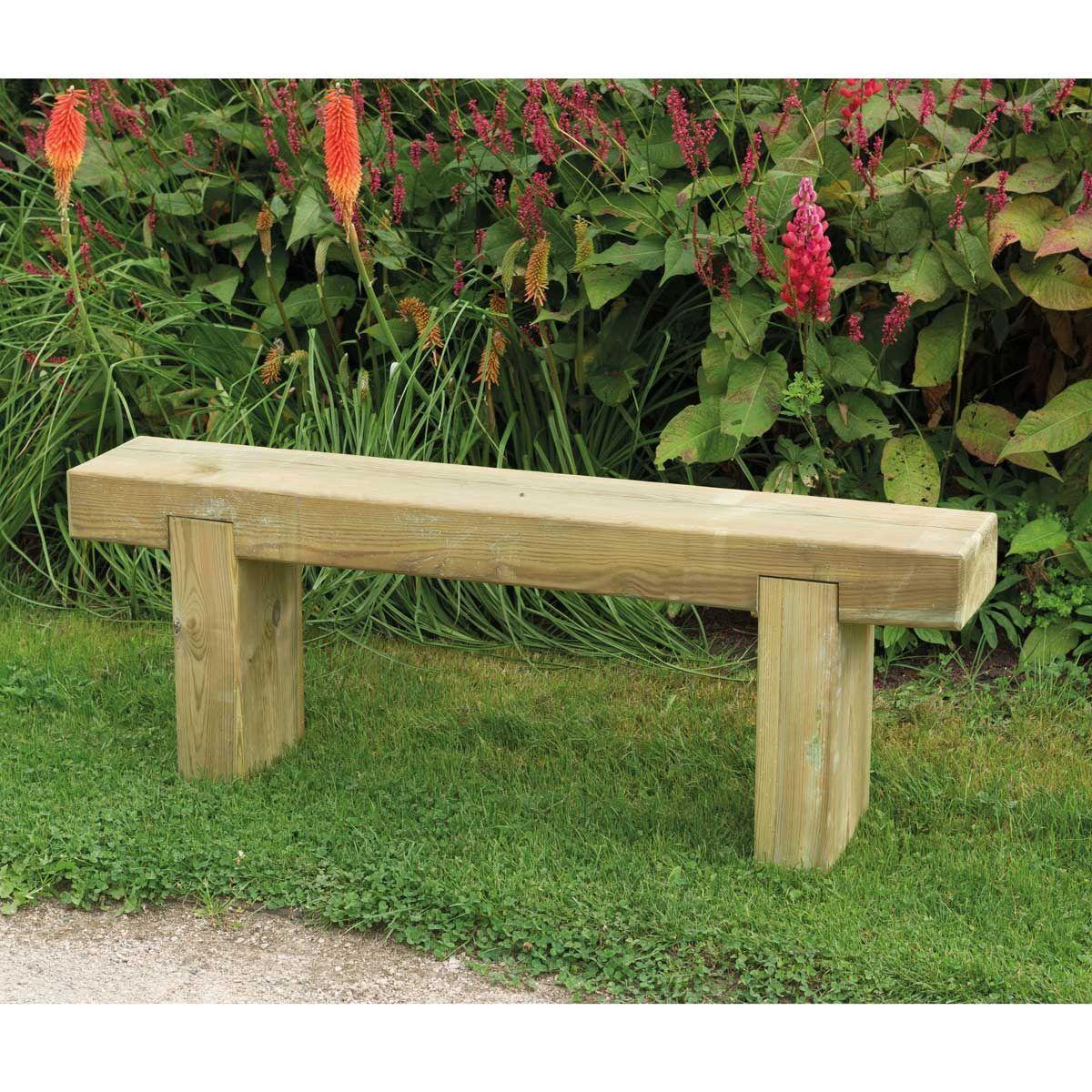 Sleeper Bench 1.2m | Notcutts | Notcutts | Garden furniture | Pinterest