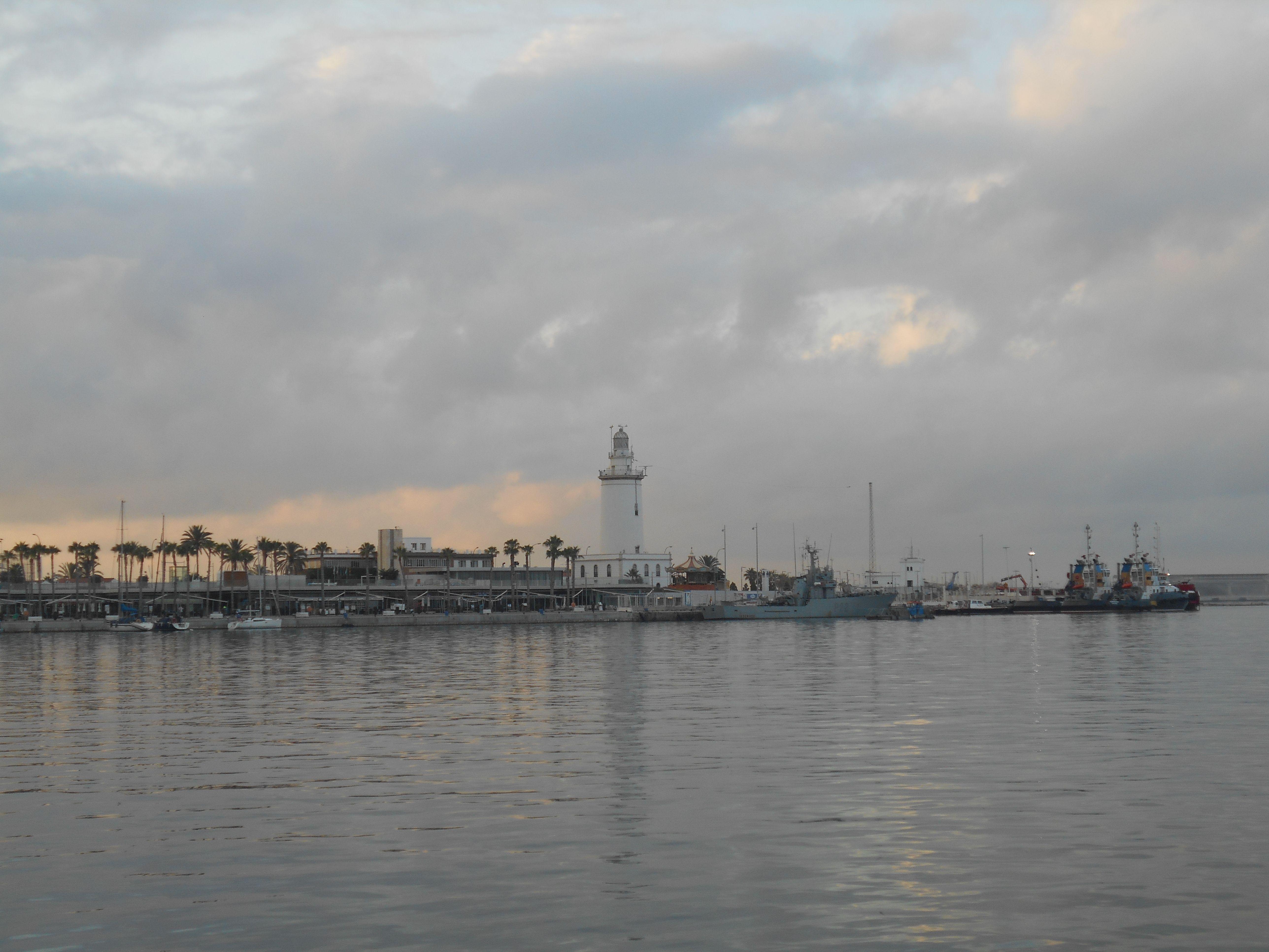 Borrasca en el Puerto de Málaga