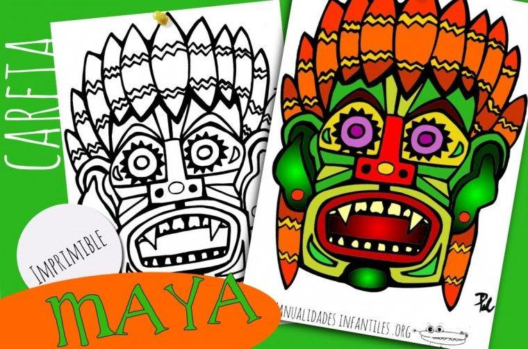 Pin En Mascaras Aztecas
