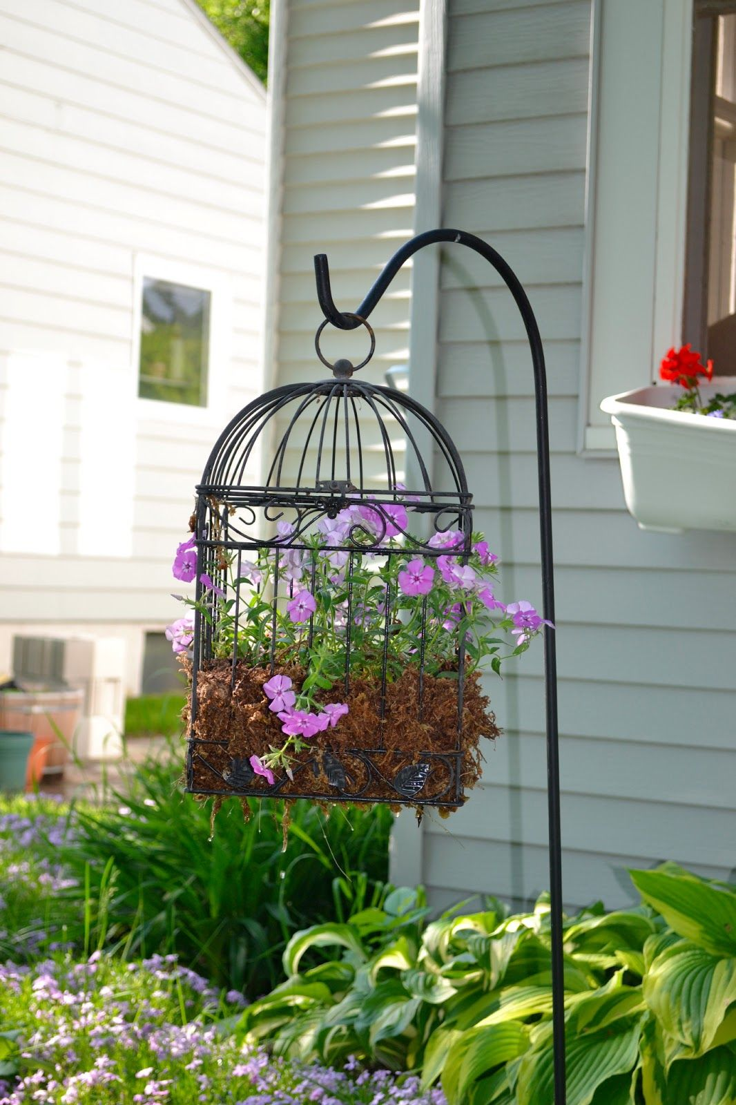 Our House in the Middle of Our Street Bird Cage Planter