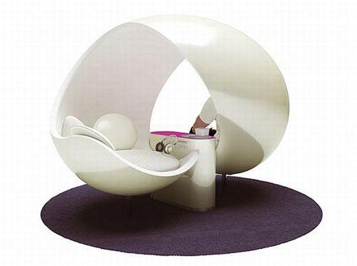 claudio colucci creates ultra modern creative lounge chair