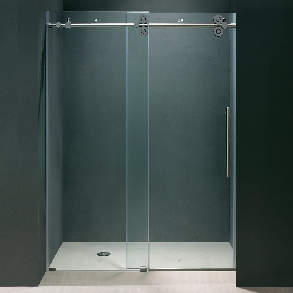 Vigo Industries Vg6041 Frameless Tempered Glass Sliding Shower Door