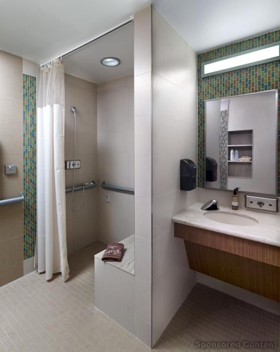 Patient Room Design: Each Patient Room Has A Large Adjacent Toilet Room With