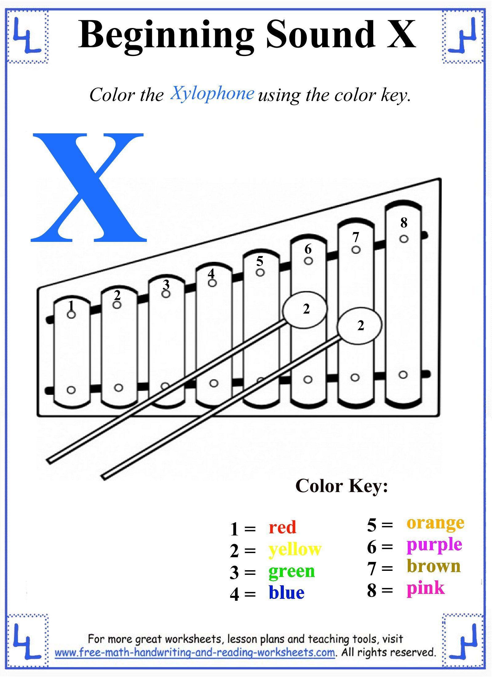 Preschool X Letter Activity