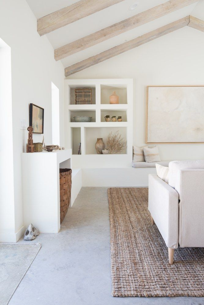 Photo of Kate Zimmerman Bright European Austin Guest Home Tour | Minimalist home interior, Neutral living roo