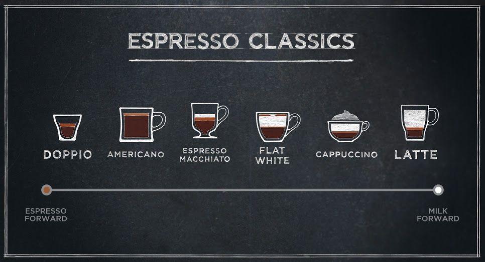 Starbucks Espresso Descriptions And Starbucks Info Graphic