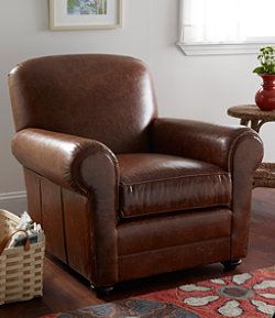 L.L.Bean Leather Lodge Chair