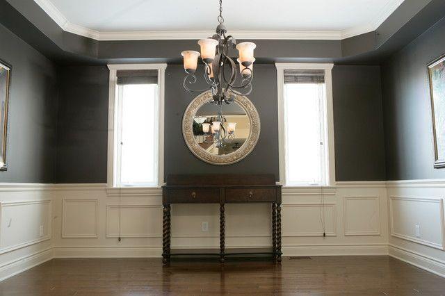 Dining Room Color Schemes Chair Rail Decor New House Pinterest