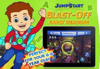 JumpStart BlastOff Early Reading, a mobile learning app