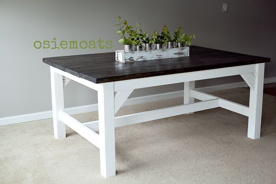 DIY FARMHOUSE TABLE.   www.osiemoats.com  https://www.facebook.com/pages/Osie-Moats/360599210662568
