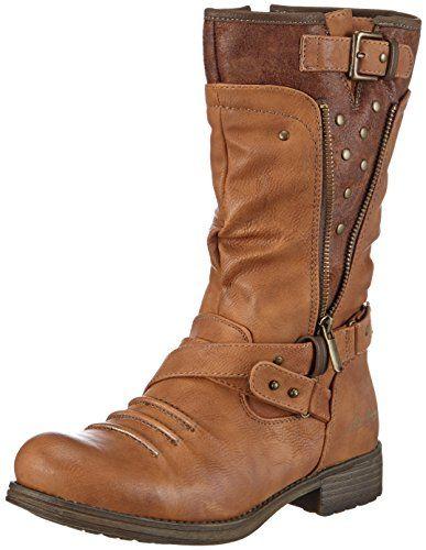 Mustang Stiefel Damen Langschaft Stiefel: : Schuhe