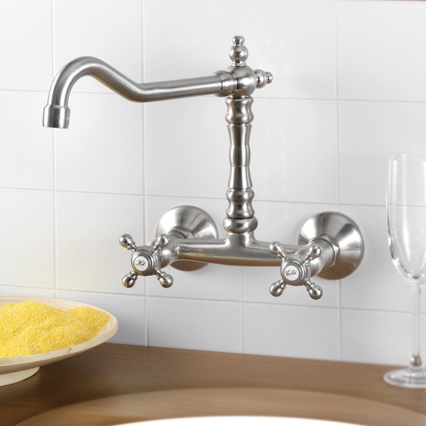 Mico Designs Ltd. 7757-C Victorian Wall Mounted Kitchen Faucet | ATG ...