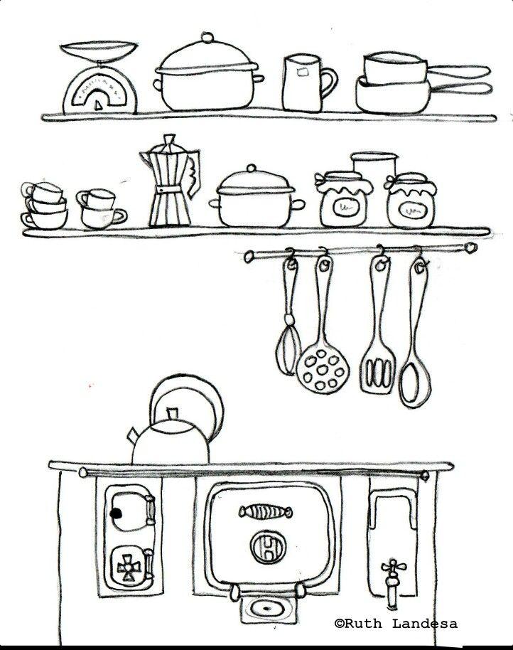 Cocinita craft electrodomesticos cocina cocinar - Cocina dibujo ...