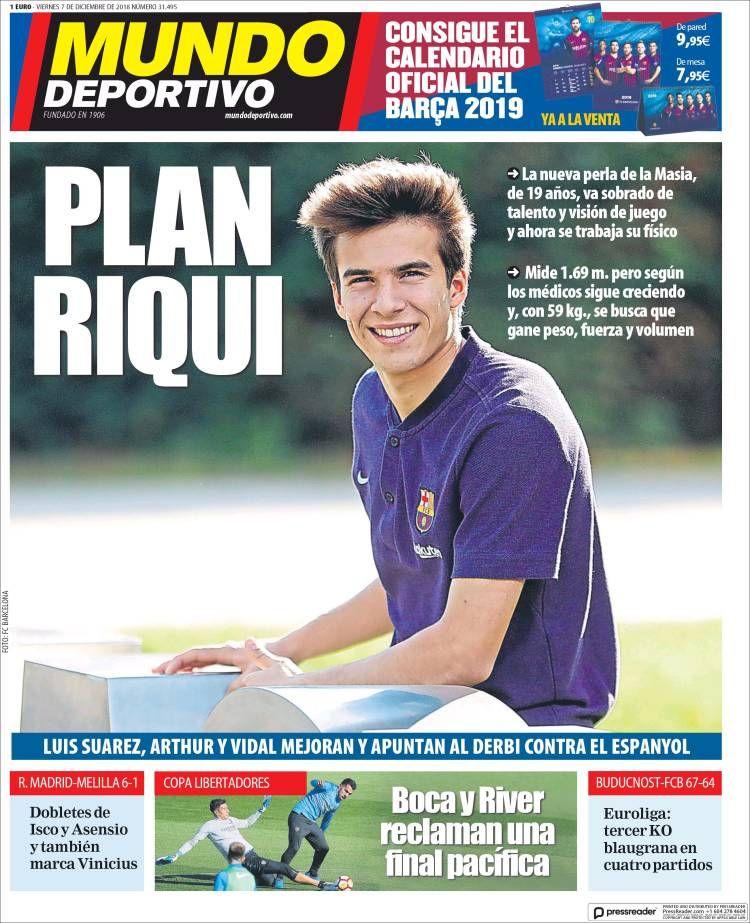 20181207 Portada de El Mundo Deportivo (España) Mundo