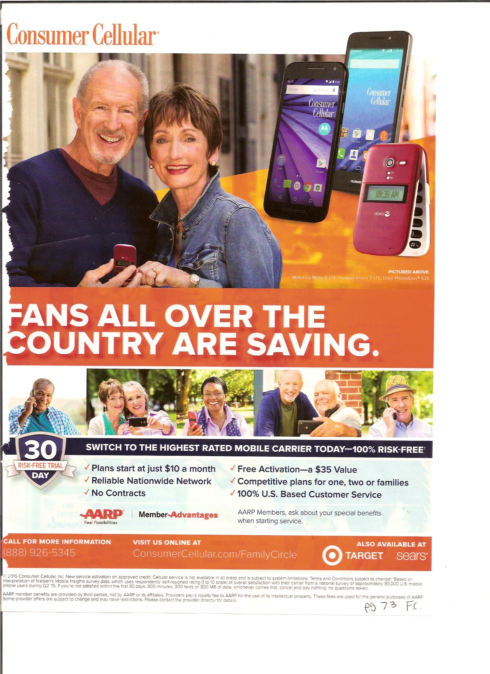 Ad 7. This ad is for Consumer Cellular, for saving money