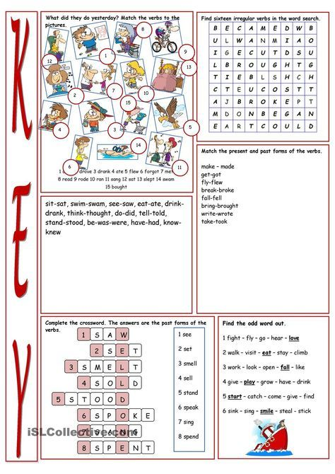 Have Fun with Irregular Verbs! clases, imagenes Pinterest - active verbs list
