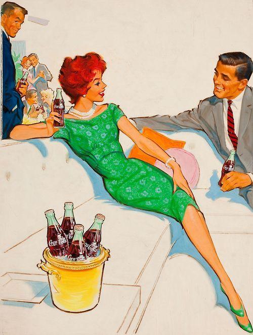 ¡Rumba, en hamburguesas El Corral! | ilustración anuncio por Pete Hawley, c.1960s.