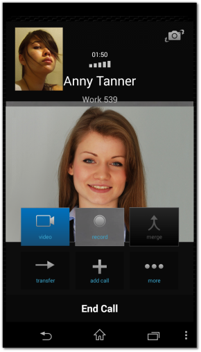 Incoming # Calls on # Zoiper for # Android
